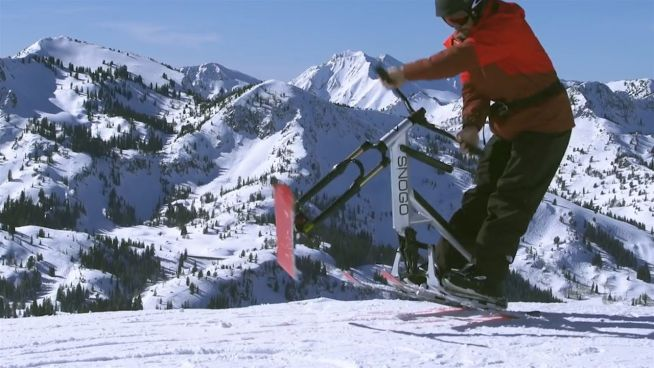 Skifahren war gestern: Der Schnee-Scooter ist da