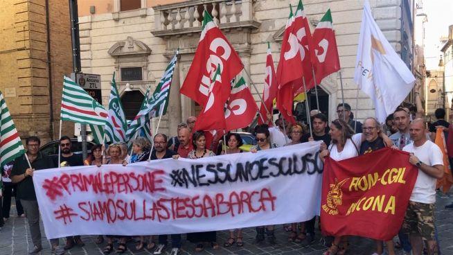 Italienische Demonstration für Carola Rackete