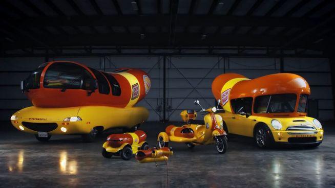 Fuhrpark: Mobile Hotdogs so weit das Auge reicht