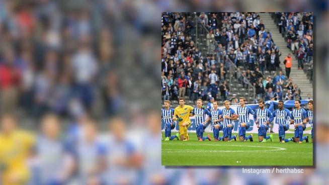 Politische Fußballer: Auch Hertha geht in die Knie