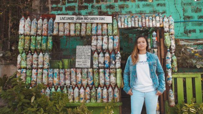 Wenn Plastikflaschen Backsteine ersetzen