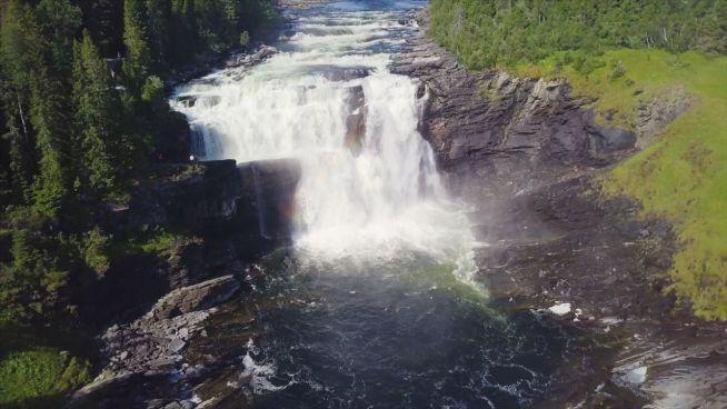 Der Stigfossen-Wasserfall in Norwegen