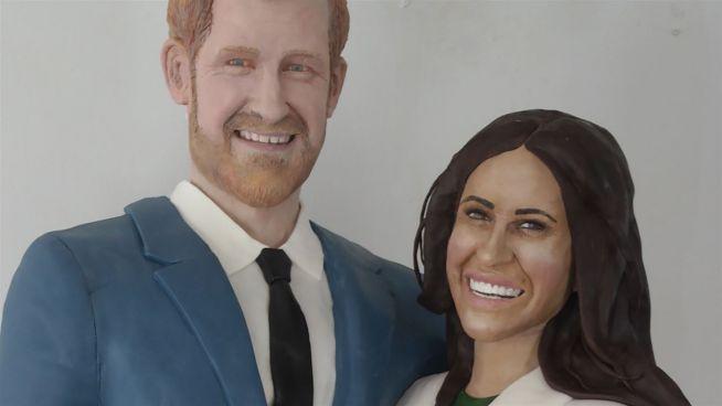 Zuckersüß: Harry und Meghan als lebensgroße Torte