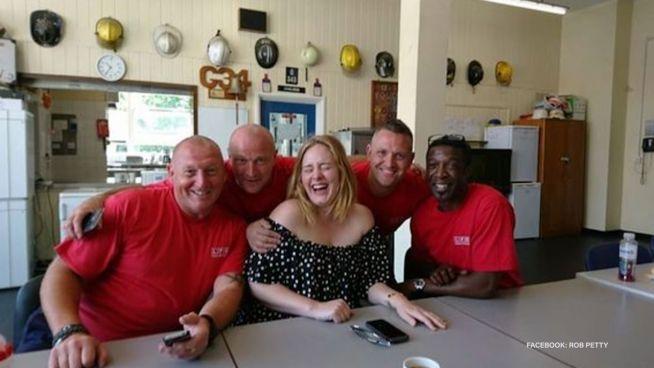 Adele sagt danke: Sängerin besucht Londoner Feuerwehr