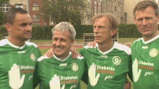Christoph Daum und Pierre Littbarski gegen Diabetes