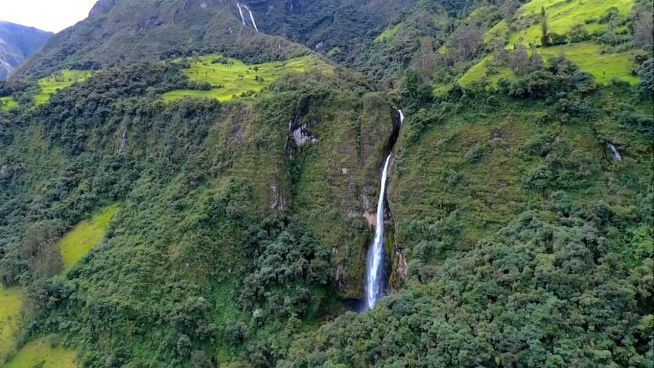 Die Wasserfälle von Girón in Ecuador
